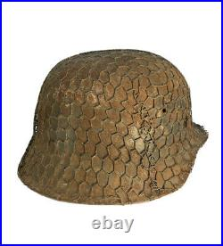 100% Authentic WW2 German Helmet Chicken Wire Full Basket, Salty + Beautiful