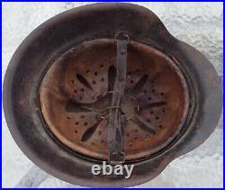 100% Original German WWII WW2 M42 Helmet Stahlhelm KIA Big Size 66