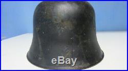 100% Original WW2 German Helmet M34 -Rare police helmet iron non-aluminum