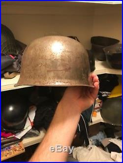100% Original WW2 German Helmet M38 Fallschirmjager Factory Unfinished