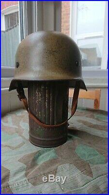 100% original DAK ww2 German M35 Helmet Desert Tropical paint