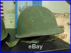 11 Original German / USA / Japanese WWII Helmets Some With Liners WW2 (11 Total)