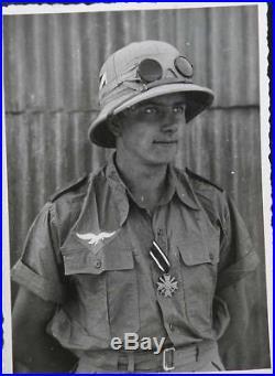 2GM Elmetto Tedesco Tropicale Occhiali WW2 GERMAN Helmet Afrika korps + Goggles