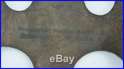 Aged Ww2 German Paratrooper Helmet Liner, Size 71 Omplete With Bolts