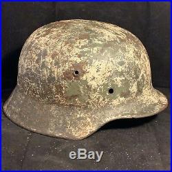 Amazing NAMED WW2 German Army SD Elite Helmet Winter & Green Camouflage Helmet