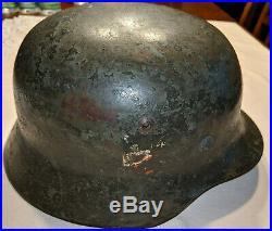 Authentic German WW2 Helmet, H35 Heer Kriegsmarine with 2 Decals