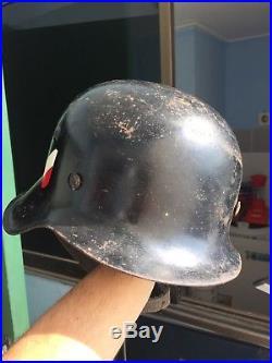 Beautiful WW 2 German wehrmacht marked Hkp 32 Helmet M-35/40 great