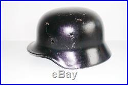 Czech civil reissue German army original WW2 M40 helmet shell size EF66 inv#636