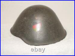East German DDR M56 helmet with WW2 type liner, stamped l l 62