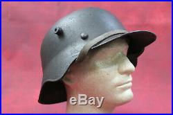 Extremely Rare WW2 German Helmet M18 Experimental Ear Cut Out ET68 Real Deal