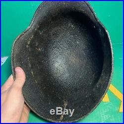 Fantastic WW2 German Army M40 Helmet Shell Found in Normandy