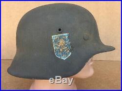 GERMAN IMPERIAL WW2 HELMET MODEL a lion GERMANY WW2 ORIGINAL M-42