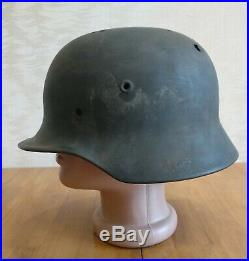 GERMAN IMPERIAL WW2 HELMET old MODEL GERMANY WW2 ORIGINAL M-40 the 64 size