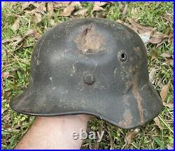 GI Bringback Battle Combat Damaged WW2 German M40 Helmet WithLiner