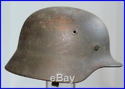 Genuine WW2 German steel helmet model 1935 with wartime overpaint