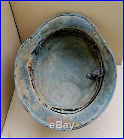 German Helmet M35 NS62 #F115 Winter camo 100% Original WW2 Wehrmacht Dug relic