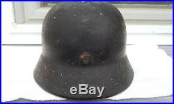 German Helmet M35 Size E. T. 64 Ww2 Stahlhelm