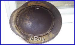 German Helmet M40 Camo Size 66 Ww2 Stahlhelm