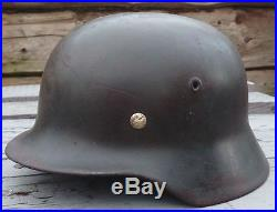 German Helmet M40 NS64 I119 with Liner fully Original WW2 Wehrmacht