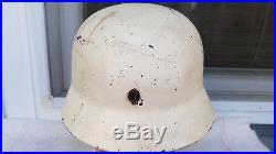 German Helmet M40 Size Et68 Ww2 Stahlhelm + Liner Band