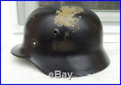 German Helmet M40 Size Q64 With Liner Band Ww2 Stahlhelm