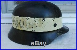 German Helmet M40 Size Q68 Ww2 Stahlhelm