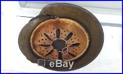 German Helmet M42 Size Ckl64 Camo Tropic Paint Afrika/italy Ww2 Stahlhelm