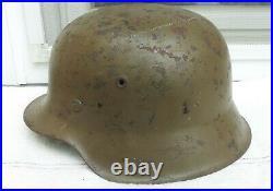 German Helmet M42 Size Et66 Camo Tropic Ww2 Stahlhelm