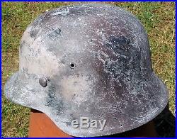 German Helmet WW2, Wehrmacht, M42, Stahlhelm, size 64, tanned wintercamo