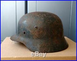 German LW Combat Helmet M40 size 64 WW2 WWII Original Dug relic