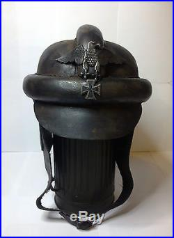 German Leather Helmet WW2
