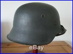 German M42 Luftwaffe helmet origional WW2 single decal