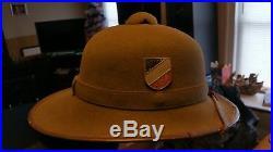 German Pith Helmet WWII Tropical Africa Corp World War 2 French DAK Rommel