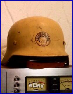 German WW2 Helmet, Norwegian Factory Defence, Industrivern, ET64 3249