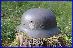 German WW2 M35 wehrmacht ORIGINAL HELMET WITH DECAL From Kurland /LATVIA