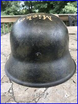 German WW2 M42 Soldier Art Helmet War Time Painted