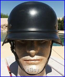 German WW2 M-40 Beaded Helmet Complete