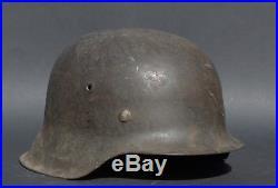 German WW2 WWII Wehrmacht HEER M42 helmet KIA