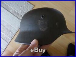 German WWII WW2 Elite M40 SD Helmet ORIGINAL DIV NORD LAPLAND FINLAND