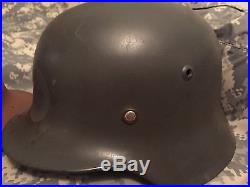 German WWII WW2 Helmet & British Helmet  Original! NR Two