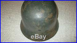 German World War 2 Normandy pattern camouflage Helmet with chinstrap and liner