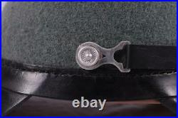 German Ww2 1923-45 Pattern Officer Leather Shacko Helmet Hat Headwear