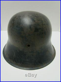 German Ww2 Helmet No Liner No Chinstrap Lot # D283 Stamped Inside