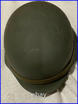 German Wwii Military Combat Helmet With Liner And Chinstrap Germany Ww2 Army