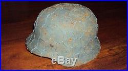 German helmet M-40, WW2, Stalingrad