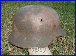 German m35 helmet helm casque found in normandy ww2 original