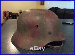 German ww2 camo helmet