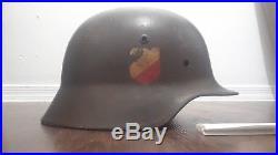 German ww2 m35 double decal helmet