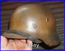 Gorgeous Original Ww2 M40 German Normandy Camo Heer Helmet Wwii Militaria