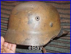 Gorgeous Original Ww2 M40 German Normandy Camo Heer Helmet Wwii Not Relic